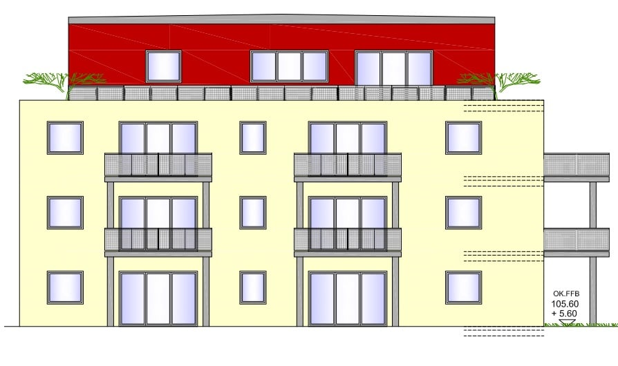 BV Neubau Bahnhofstra·e 7 Kirchheimbolanden 2500,00 qm Tapete Anstrich Lack